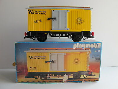 "Playmobil 4122 Western-Stückgut-Waggon ""COLORADO WAREHOUSING"" , Super Zustand!!!"