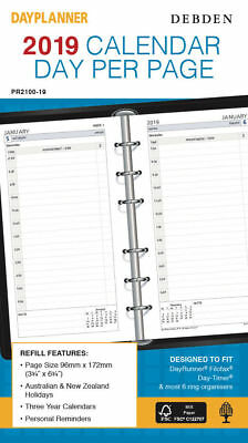 2018 COLLINS DEBDEN DIARY REFILL WEEK TO PAGE OPENING PR2700 96mm X 172mm 6 RING
