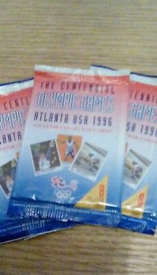Atlanta 1996 Olympic Games. 3 sealed packets of collector cards.