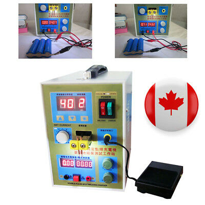CA/USA LED Double Pulse Spot Welder 18650 Battery Charger 800A 0.1-0.2mm 36V 60A