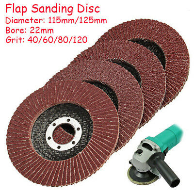 115mm 125mm Flap Sanding Discs 4.5'' 5'' Grinding Wheels 40 60 80 120 Grit New