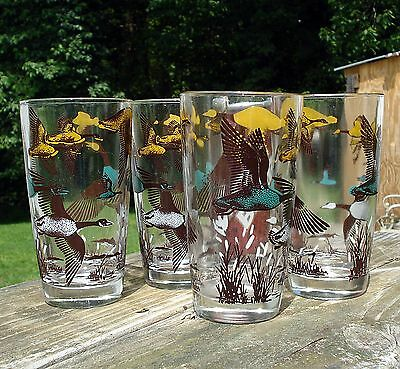 4 Vintage Canadian Geese Glasses swanky swig tumbler drinking glass