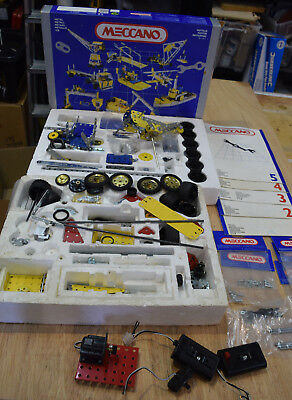 Meccano set No 5 incomplete with add on set and extras, manuals 1 to 5