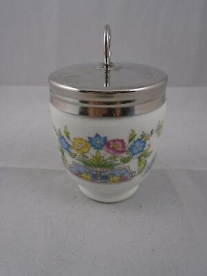 Royal Worcester Large King Size  Egg Coddler with Rare Mayfield Pattern 8cm