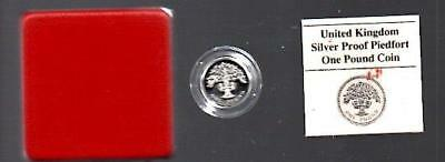 1986 SILVER PROOF PIEDFORT N.IRELAND £1 COIN BOXED with COA D8
