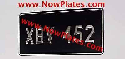 1 of Brushed Chrome Pressed Number Plate 12x6ins