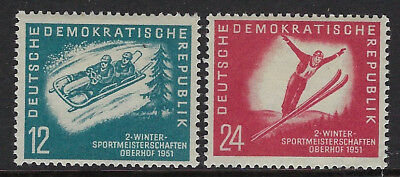 EAST GERMANY(DDR):1951 Second  Winter Sports Meeting set  SG E37-8 mint