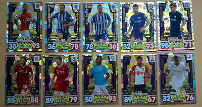 17 18 MATCH ATTAX 10 MAN OF THE MATCH CARDS TOPPS 2017/2018  ALL LISTED set x