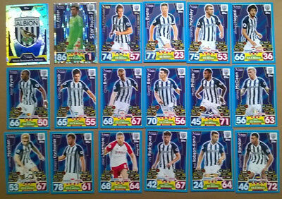 17 18 Match Attax 18 West Brom  Cards All Listed Topps 2017/2018