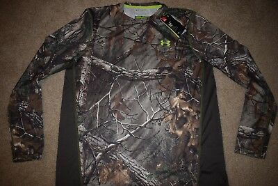 Under Armour Men's Scent Control L/S T-Shirt 9147 Size XL (RealTree 946) NWT