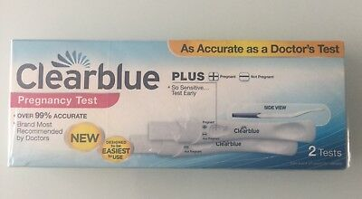 Clearblue Pregnancy Test Stick Kit 99% Accurate 2 Tests. **See Note** Free P+P