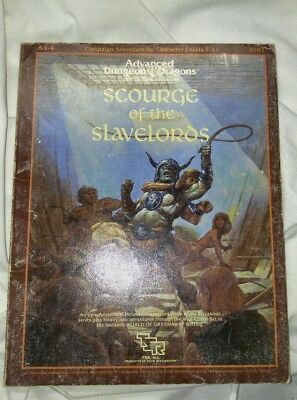A 1-4 Scourge Of The Slavelords Dungeons & Dragons Ad&d Tsr 9167 8 Supermodule