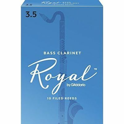 Rico Royal 3.5 Strength Reeds for Bass Clarinet (Pack of 10)