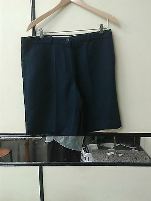 Glenmuir 1891 Ladies Golf Shorts Trousers Navy Size 34""