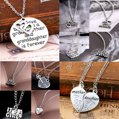 UR AG Jewelry Gift Sister Mother Family Best Friend Love Cool Pendant Necklace