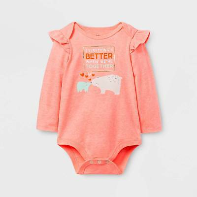 Baby Girls' Better Together Bodysuit - Cat & Jack™ Peach