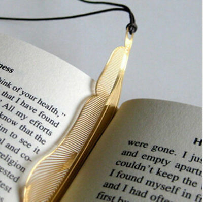 GR AU Exquisite golden animal feather bookmark fiction magazine office supplies
