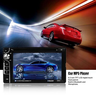 """6.2"""" 2 Din HD Car Stereo DVD VCD/USB/SD Player Bluetooth Touch Screen USB/SD New"""