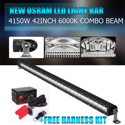 """Curved 42Inch 560W OSRAM Led Light Bar Offroad Pickup Truck Combo lamp 52""""32"""" 8D"""