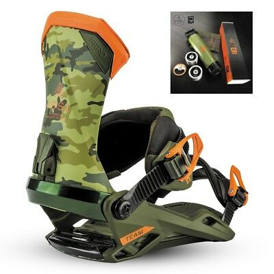 Attacchi Snowboard Bindings NITRO TEAM X VSSL Camo + KIT 2018