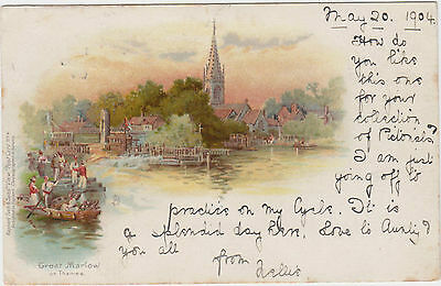 BUCKINGHAMSHIRE/GREAT MARLOW /River THAMES/ undivided back 1904