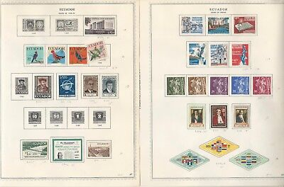 Ecuador Collection 1865 to 1965 on 90 Minkus Specialty Pages