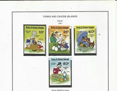 Turks and Caicos Islands. 1981 Easter. (Disney Characters). MNH.