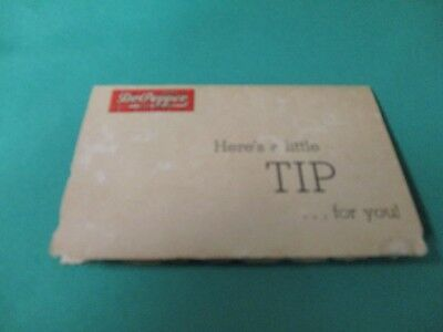 """Dr Pepper """"rare"""" Tip Card From The 1940's With """"drink A Bite To Eat"""" Slogan"""