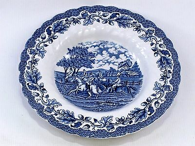 """Blue & White Plate 'Country Life' by Myott made in England 9"""" Nominal Diameter"""