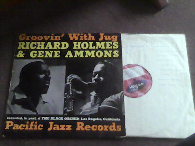 RICHARD HOLMES GENE AMMONS Groovin With Jug RARE ORIGINAL 1961 UK VOGUE JAZZ LP
