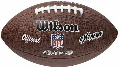 American Football Ball NFL Wilson Extreme Tan Official Soft Grip