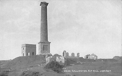 callington kit hill 1.100feet  cornwall cornish postcard
