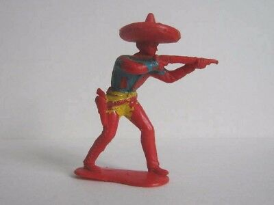 1 x CRESCENT # C25. WILD WEST MEXICAN 1960's PLASTIC TOY SOLDIER.  1/32 to clear