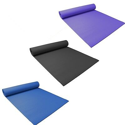 Padded Yoga Mat Extra Large with Carry Strap. Non Slip for Pilates, Workout, Gym