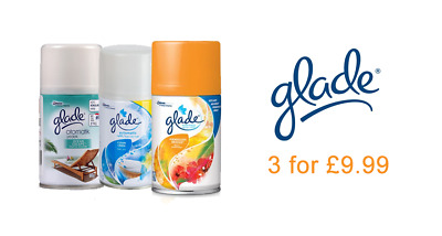 3 x GLADE AUTOMATIC SPRAY AIR FRESHENER REFILL 269ml VARIOUS SCENTS!