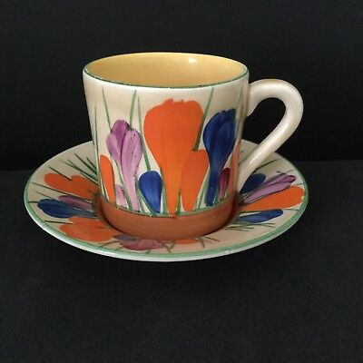 """lovely clarice cliff """" autumn crocus """" coffee can/cup...excellent condition."""