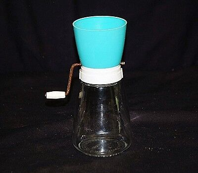Old Vintage 50s Chopper Federal Houseware Turquoise Top Kitchen Utensil Tool MCM