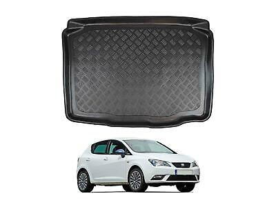 Tailored Fit Black Boot Liner Tray Floor Mat for Seat Ibiza (2008 on) [5 Door]