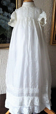 Antique Baby Silk/lace Christening Gown