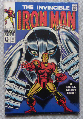The Invincible Iron Man #8, Silver Age Marvel, 1968, Nice Condition.