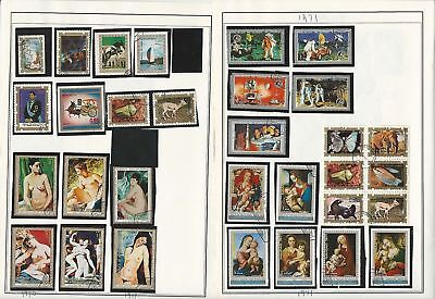 Equatorial Guinea Topical Collection on 25 Harris Pages, Art, Birds, Ships