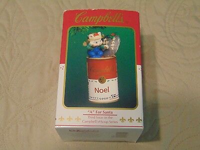 """Enesco Campbell's Soup Ornament - """"a"""" For Santa - Free Shipping"""