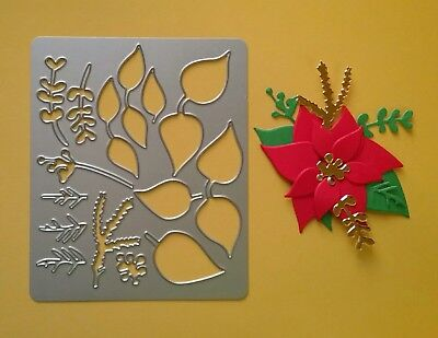 Poinsettia Metal Die Cutter - Christmas Flower Card Topper