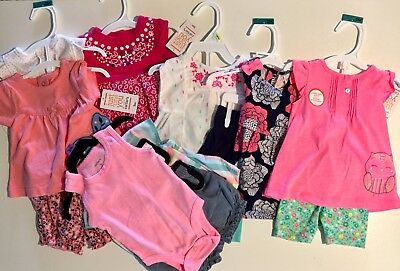 LOT of Baby Girl Clothes 3 months OutfitsAll New With Tags, Carters