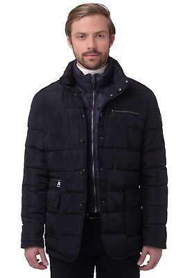 RRP €384 CERRUTI 18CRR81 Size 54/XL Men's Quilted Jacket With Detachable Collar