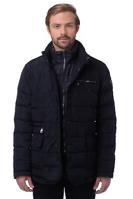 RRP €384 CERRUTI 18CRR81 Size 50 / M Men's Quilted Jacket With Detachable Collar
