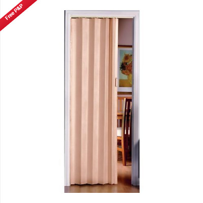 Pine Folding Door PVC Internal Doors Sliding Panel Bi Divider Utility Indoor
