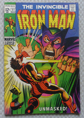 The Invincible Iron Man #11, Silver Age Marvel From 1969, Low Grade!!