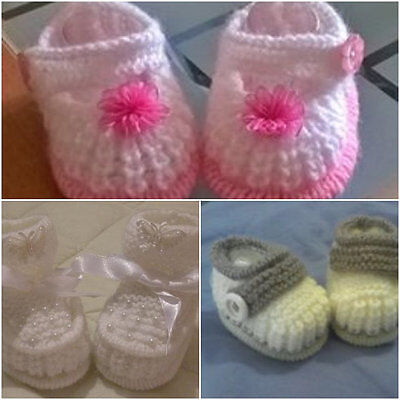 Baby Knitting Pattern Tuck shoes double edge tuck booties. cuffed Boots