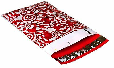 100 6x9 Candy Cane Designer Mailers Poly Shipping Envelopes Boutique Bags